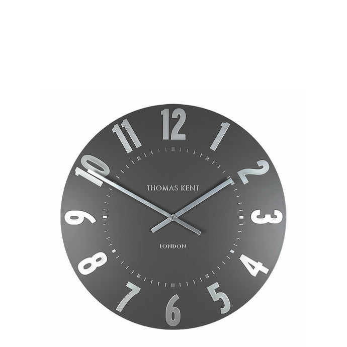 Thomas Kent Clocks Mulberry Wall Clock - Graphite Silver - Cronulla Living