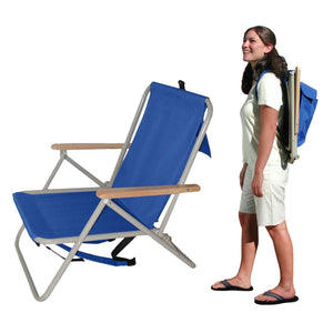 Wearever Backpack Aluminium Chair: Navy - Cronulla Living