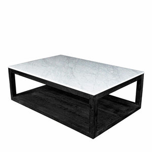 Denver Coffee Table - Marble and Oak Wood Frame