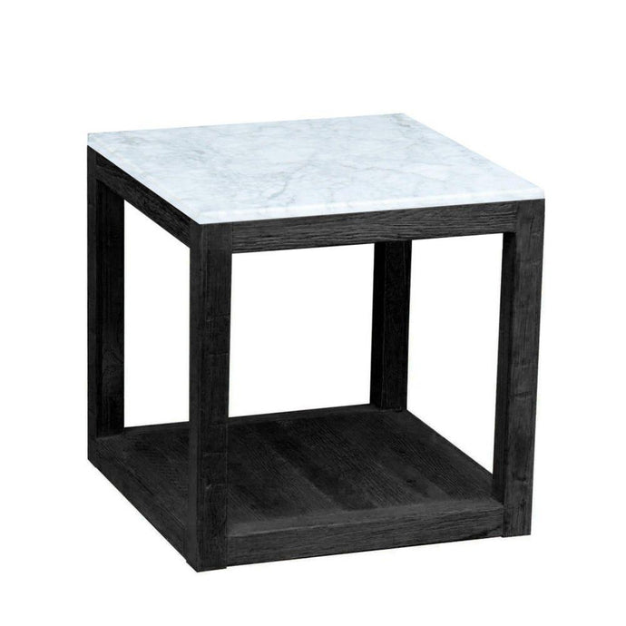 Denver - Marble & Oak Side Table