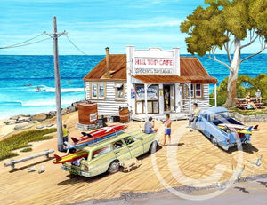 "Mattered Print - The Hill Top Cafe - 11x14"" - Cronulla Living"
