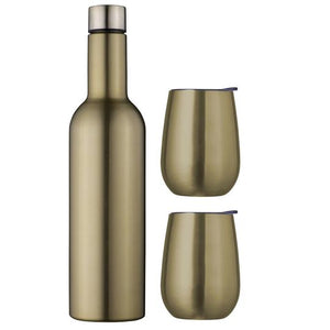 Avanti Wine Traveller Set Double Wall Insulated - Champagne - Cronulla Living