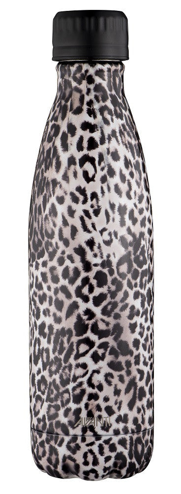 Avanti Insulated Bottle Fluid Twin Wall  500ml - Leopard - Cronulla Living