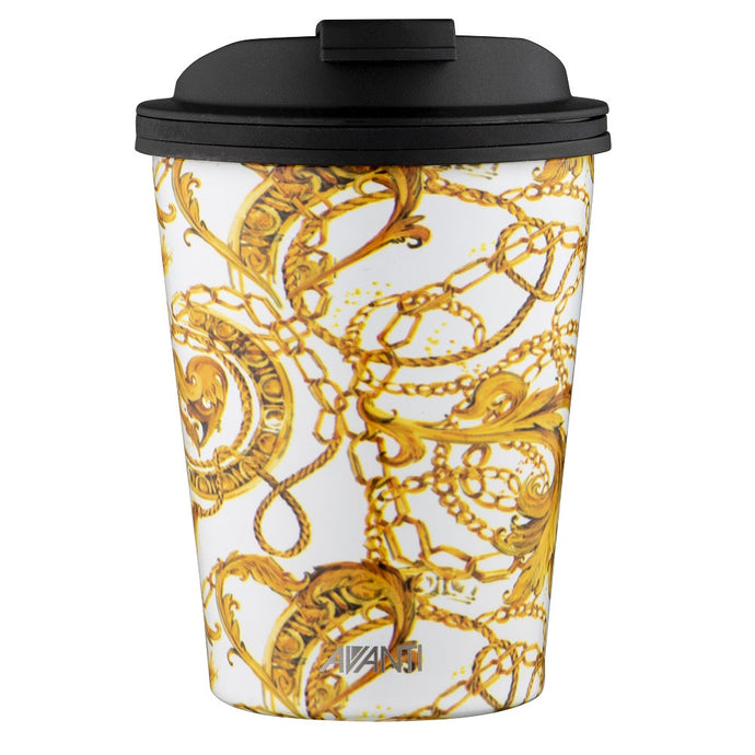 Avanti Go Cup 280ml - Gold Baroque - Cronulla Living