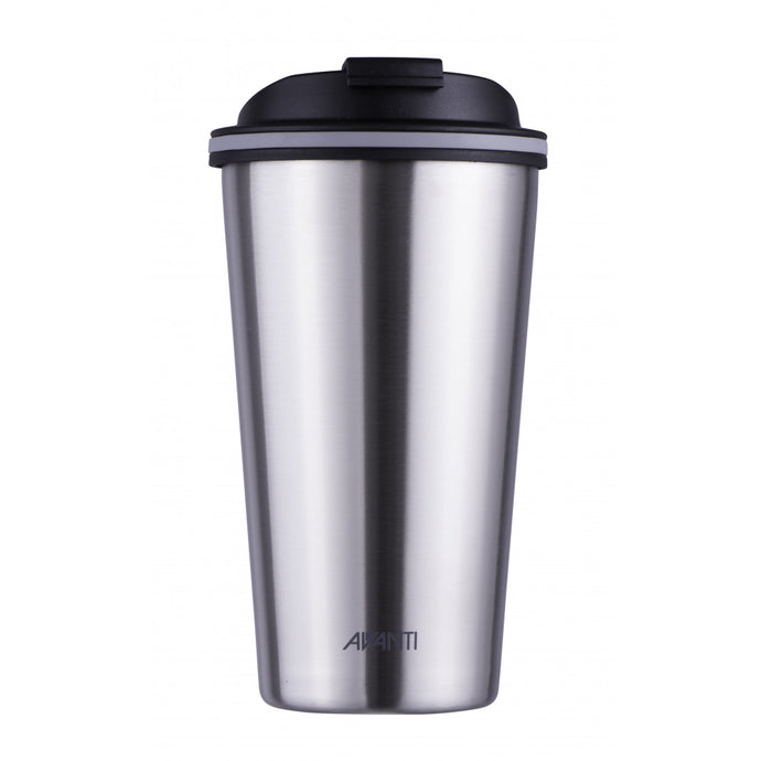 Avanti Go Cup 410ml - Brushed Stainless Steel - Cronulla Living
