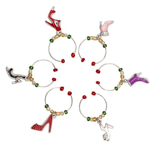 Avanti Wine Charms Set of 6 - Shoes - Cronulla Living