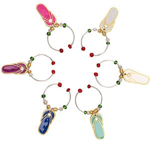 Avanti Wine Charms Set of 6 - Thongs - Cronulla Living