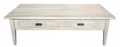 Hamptons 2 Draw Coffee Table Greywashed oak