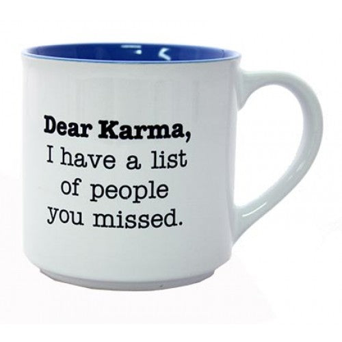 Novelty Mugs 'Dear Karma...' - Cronulla Living