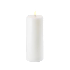 "Flameless Pillar Wax Candle 3""x 8"" - Cronulla Living"