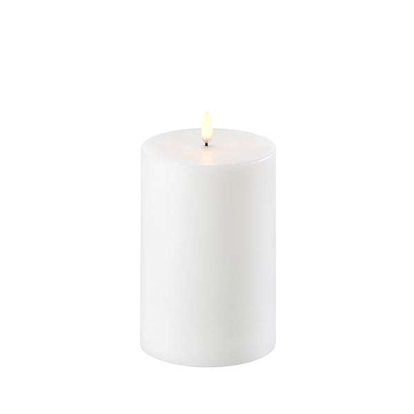 Flameless Pillar Smooth Wax Candle 4