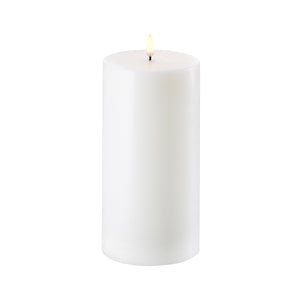 "Flamelass Pillar Wax Candle 4""x 8"" - Cronulla Living"
