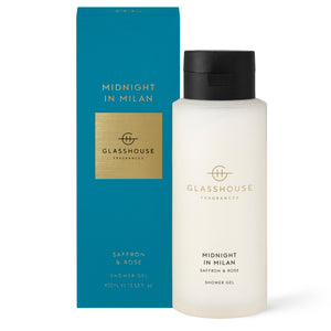Midnight in Milan - Saffron & Rose 400ml Shower Gel - Cronulla Living