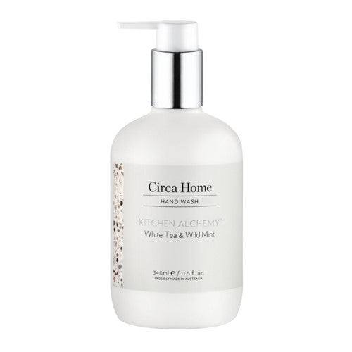 circa home kitchen alchemy range white tea and wild mint hand wash 340ml