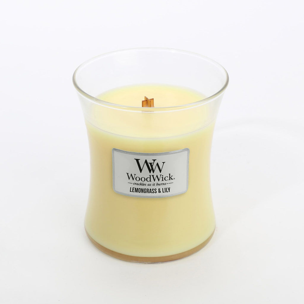 Woodwick Candle - Lemongrass & Lily Medium