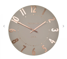 Load image into Gallery viewer, Thomas Kent Mulberry Wall Clock - Rose Gold