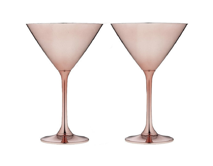Tempa Aurora - Martini Glass Set of 2 - Rose Gold