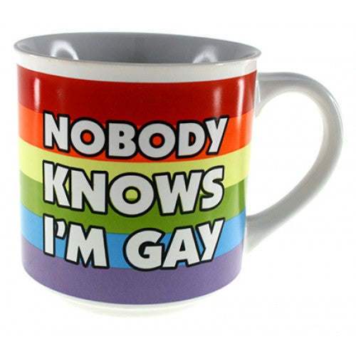 Nobody Knows I'm Gay...Mug - Cronulla Living