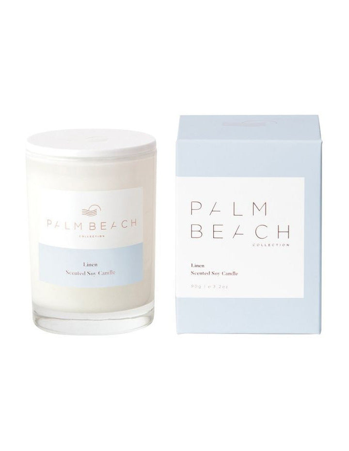 Palm Beach Mini Soy Candle 90g - Linen