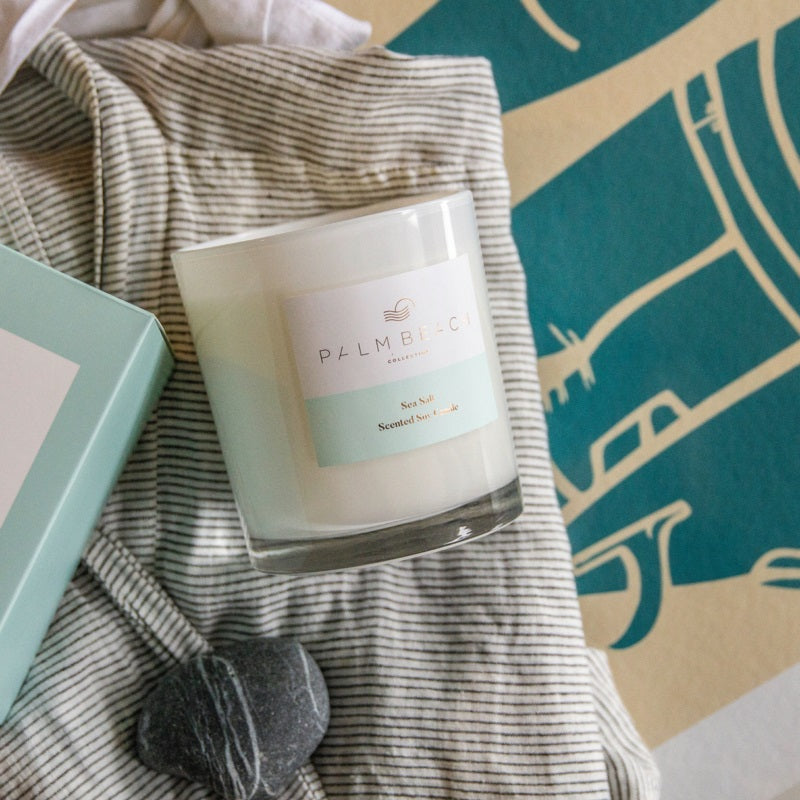 Palm Beach Sea Salt 420g Candle - Cronulla Living