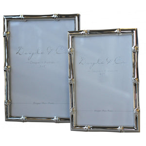 Bamboo Style Frame Silver Plated 4x6