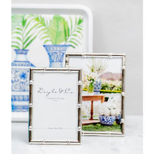 Load image into Gallery viewer, Bamboo Style Frame Silver Plated 5x7