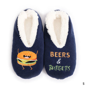 Sploshies - Men's Duo Burger Non Slip Soft Slippers