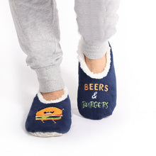 Load image into Gallery viewer, Sploshies - Men's Duo Burger Non Slip Soft Slippers