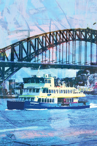 Microfibre Tea Towel - Sydney Ferry - Cronulla Living