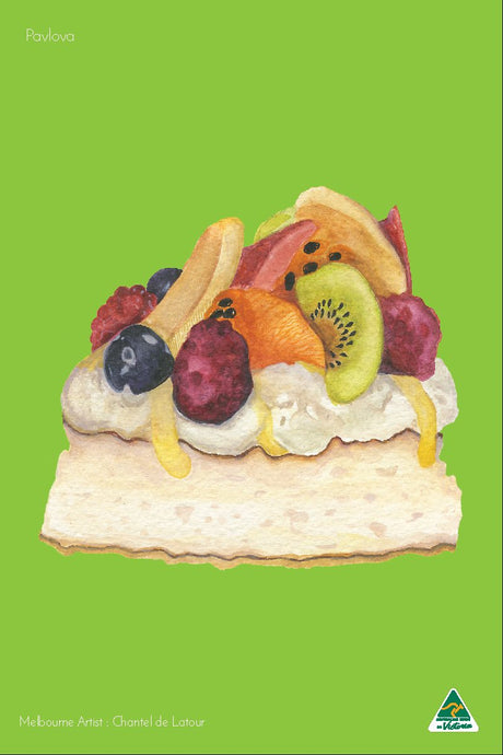 Microfibre Tea Towel - Pavlova Green