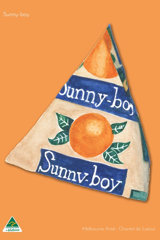 Microfibre Tea Towel - Sunny Boy Orange