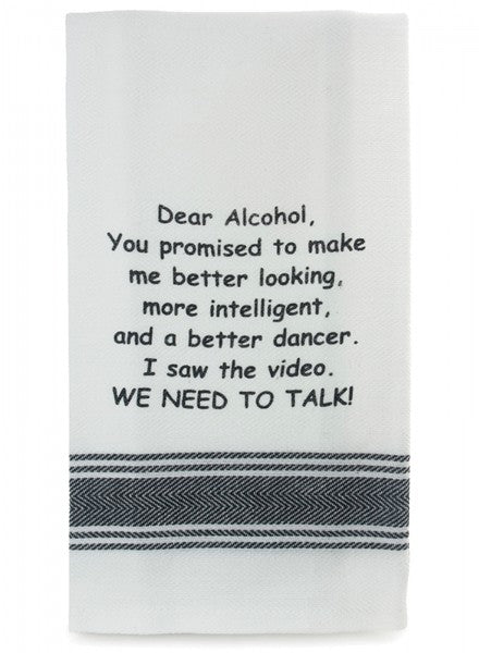 Tea Towel - Dear Alcohol - Cronulla Living