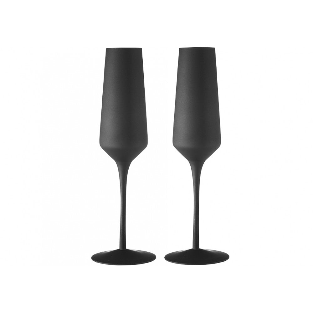 Tempa Aurora - Champagne Glass Set of 2 - Matte Black