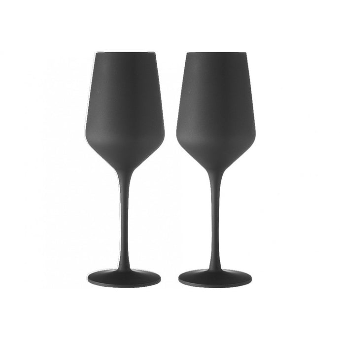 Tempa Aurora - Wine Glass Set of 2 - Matte Black