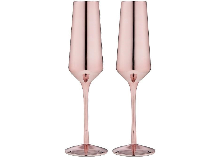 Tempa Aurora - Champagne Glass Set of 2 - Rose Gold
