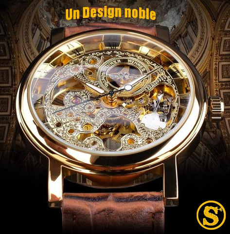 montre automatique squelette de face