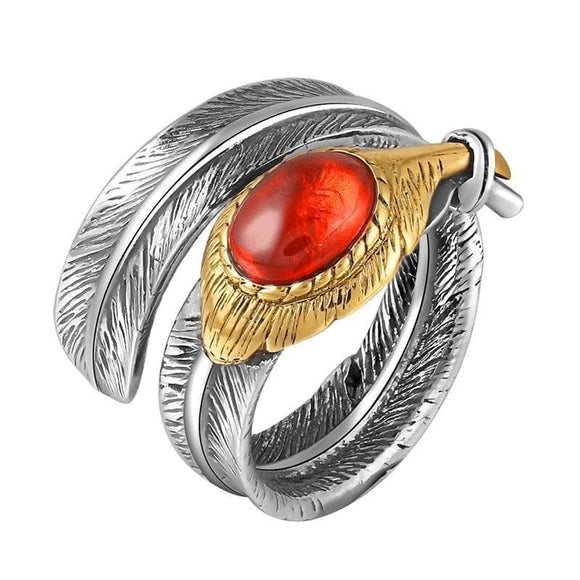Bague Plume Homme | Steampunk Store