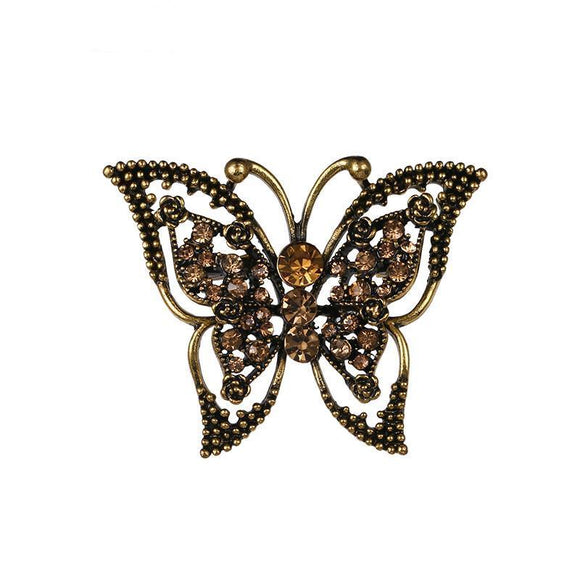 Broche Steampunk Machaon Vintage