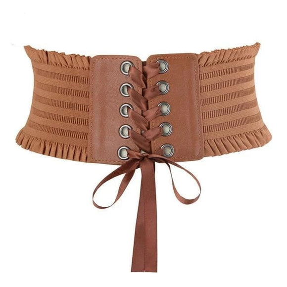 corset serre taille steampunk camel | Steampunk Store