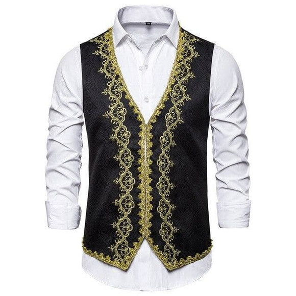 Gilet Homme Brodé | Steampunk Store