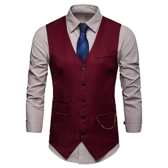 Gilet Homme Rouge | Steampunk Store