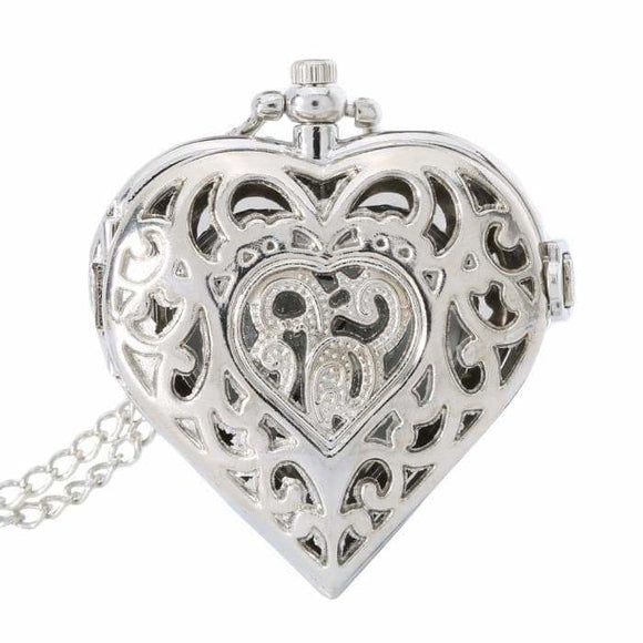 Montre pendentif Heartness - Steampunk Store de face