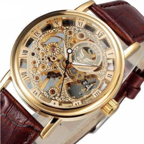 montre bracelet skeleton dream sur fond blanc
