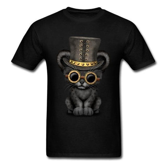 Tee Shirt Chat Noir - Steampunk Store