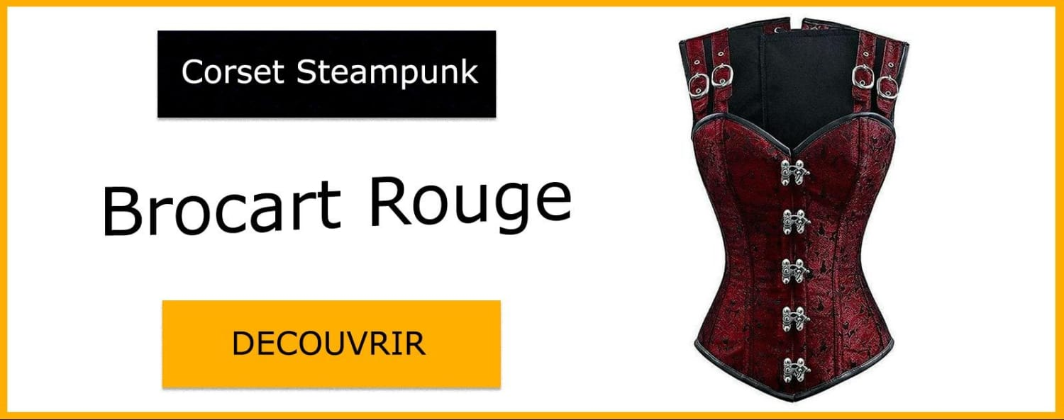 Corset Steampunk Rouge