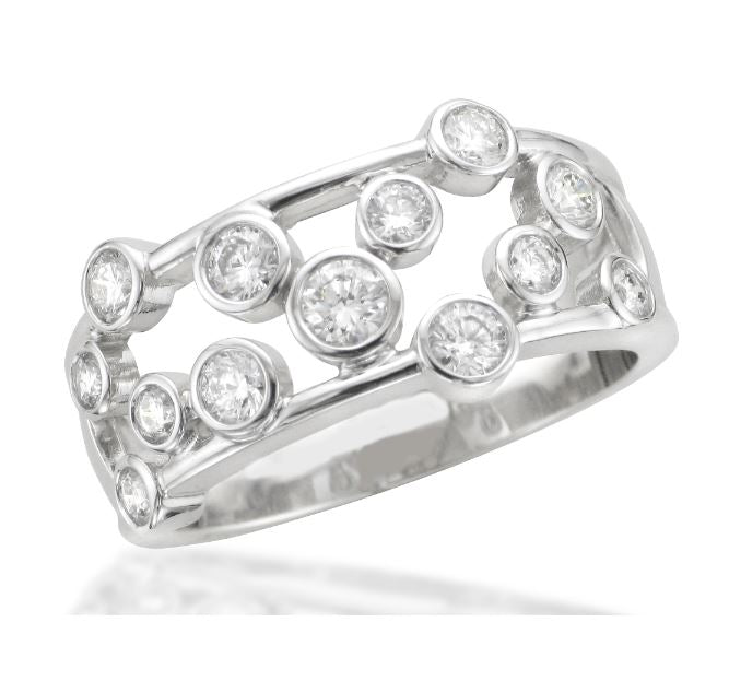 Rubover Diamond Scatter Ring