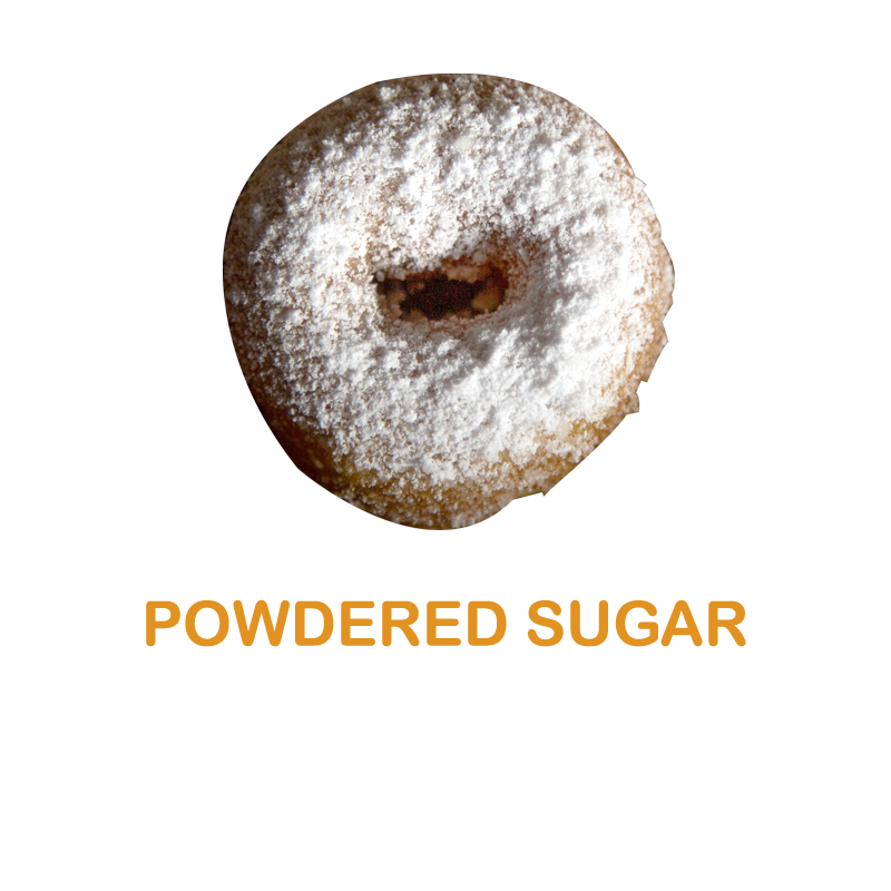 Luv'em Powdered Sugar Mini Donut