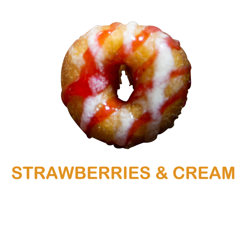 Luv'em Strawberries and Cream Mini Donut