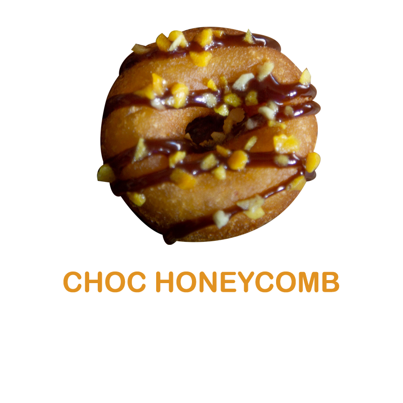Luv'em Chocolate Honeycomb Mini Donut