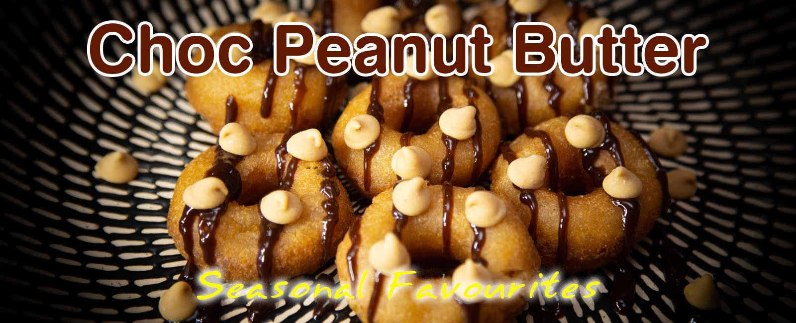 Luv'em Chocolate Peanut Butter Mini Donut